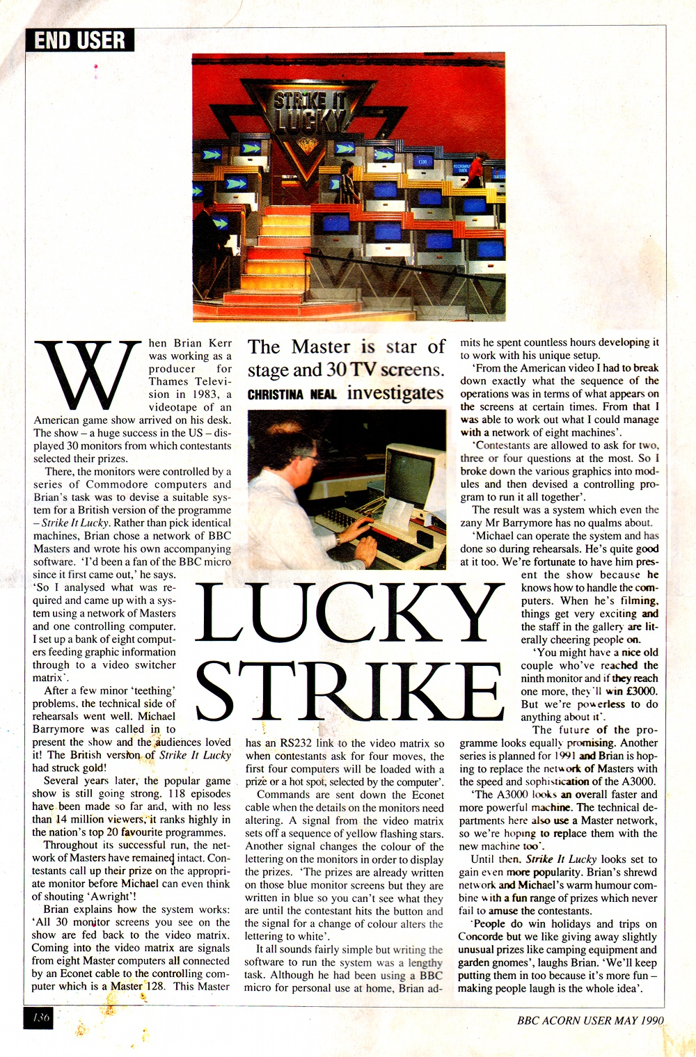 Acorn User Strike It Lucky article