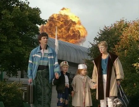 The Brittas Empire screengrab - Leisure Centre explosion