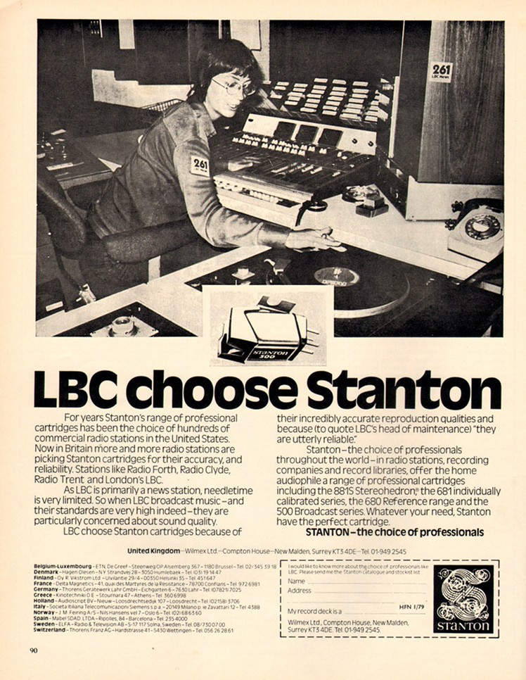 LBC choose Stanton - advert