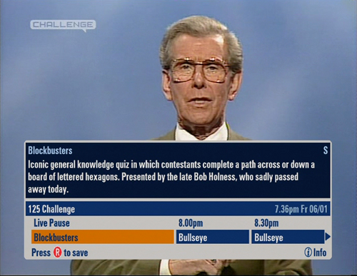 Blockbusters EPG picture