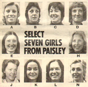 Select Seven Girls From Paisley
