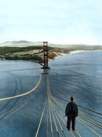 Fake, photoshopped picture of the Golden Gate Bridge