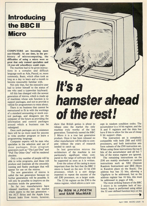 The Micro User 1984, Page 1