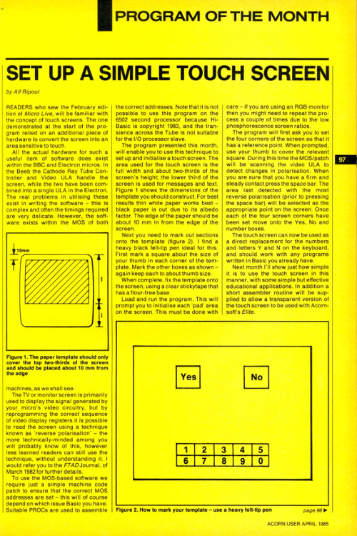 Acorn User 1985, Page 1