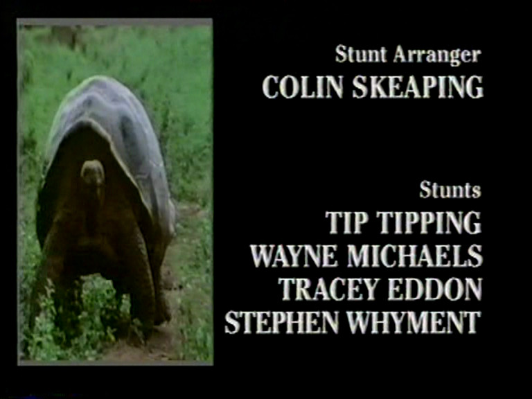 Original broadcast credits - stunts