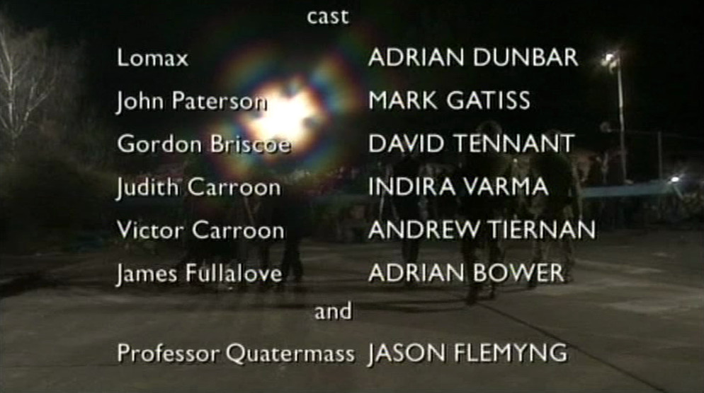 Start of closing credits, broadcast