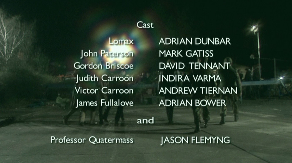 Start of closing credits, DVD