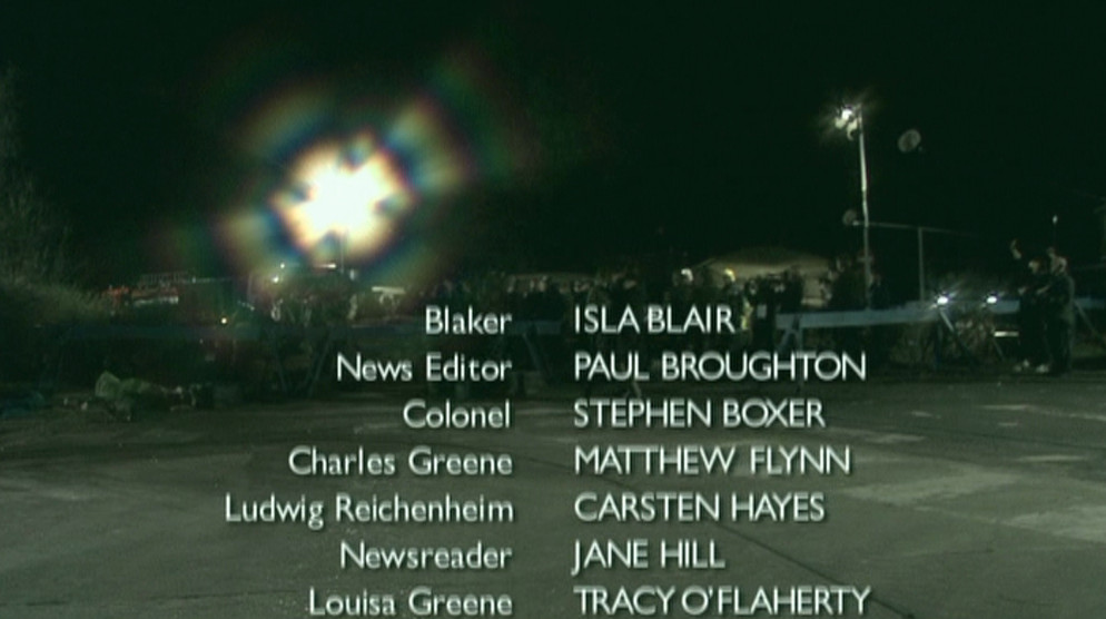 Middle of closing credits, DVD