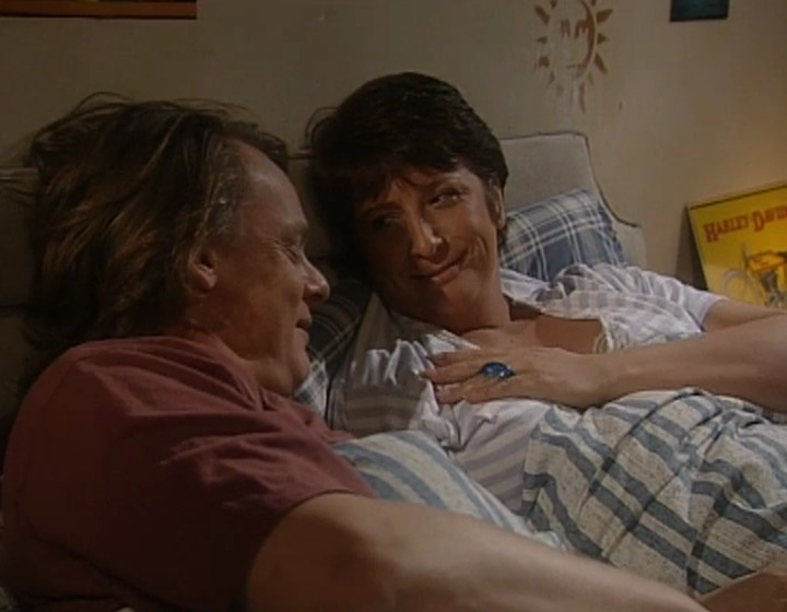 Gary and Dorothy in bed