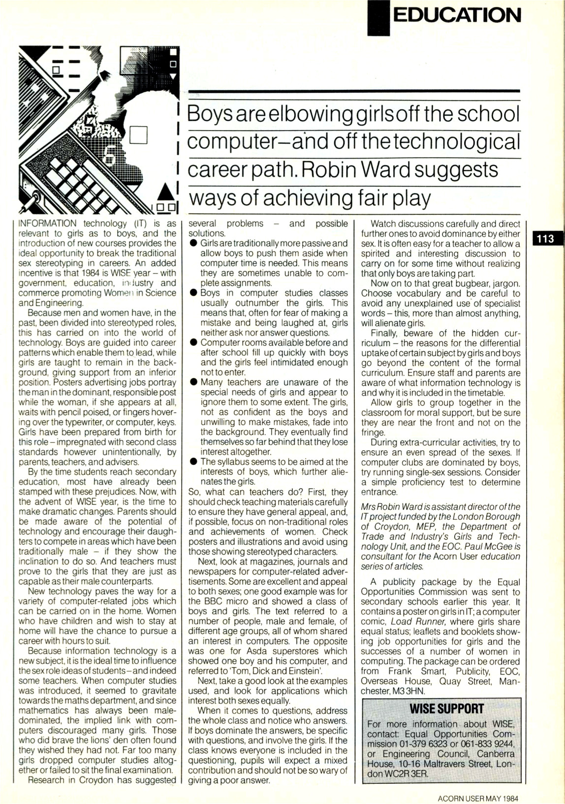 May 1984 Acorn User article