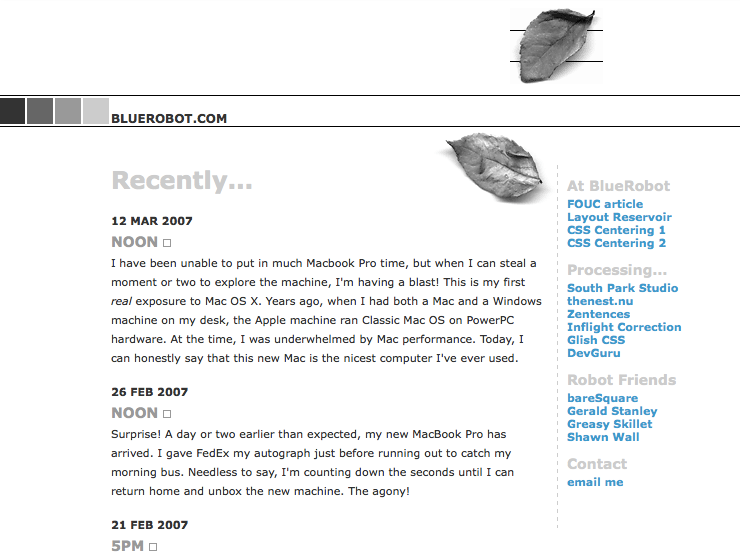 Screenshot of BlueRobot