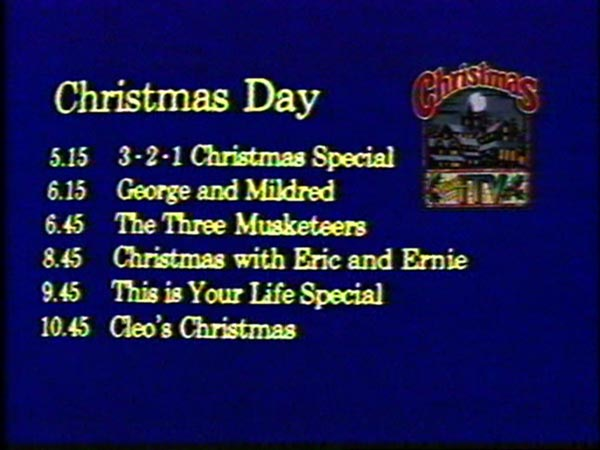 Christmas on ITV 1979 menu