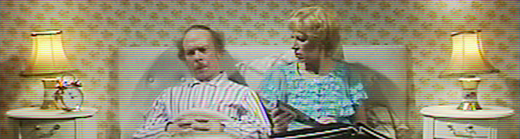 George and Mildred in bed