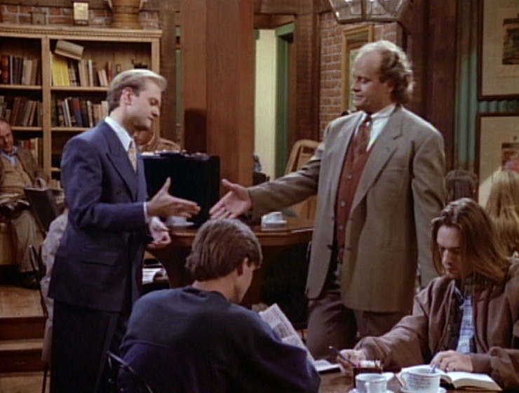 Niles and Frasier shake hands