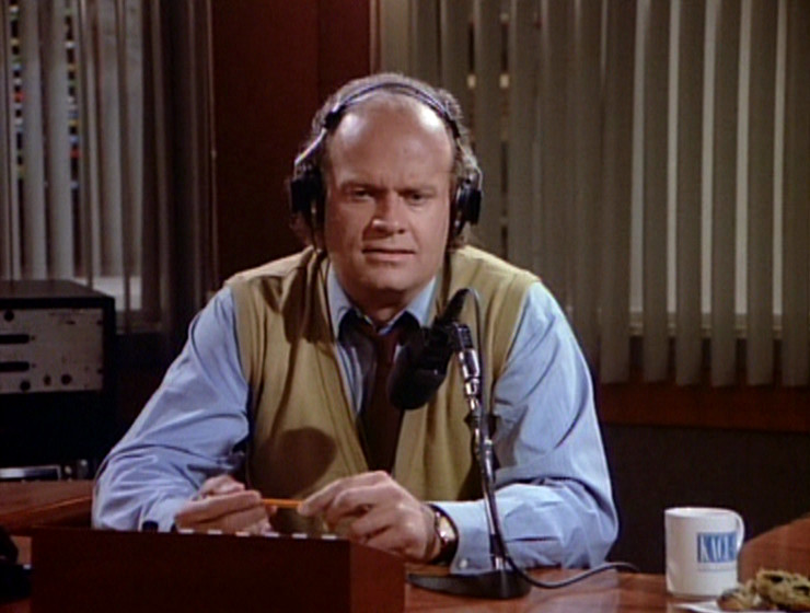 Frasier in the radio studio