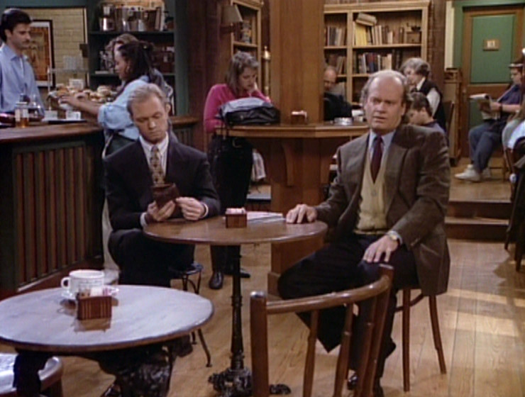 Frasier and Niles, annoyed