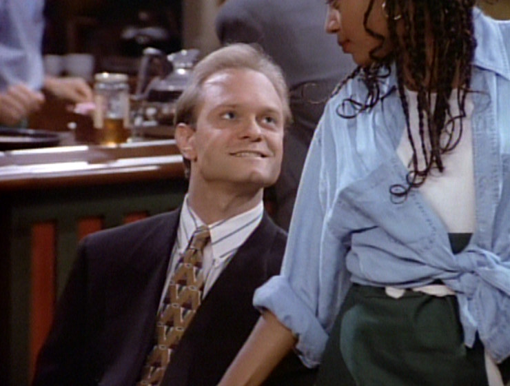 Niles with a stupid grin on his face