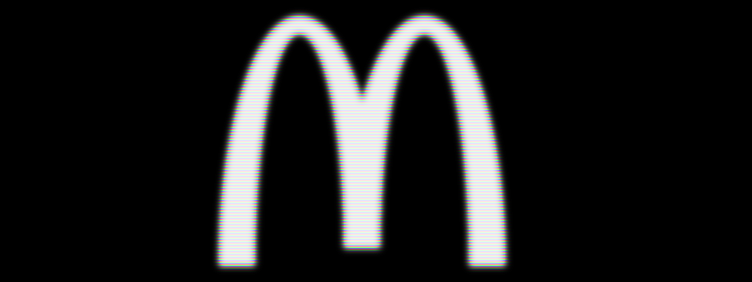 McDonald's logo on black