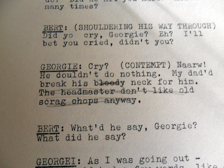 Photo of this part of script