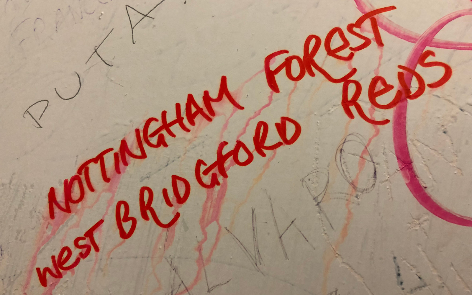 Graffiti in the Colosseum - NOTTINGHAM FOREST WEST BRIDGFORD REDS