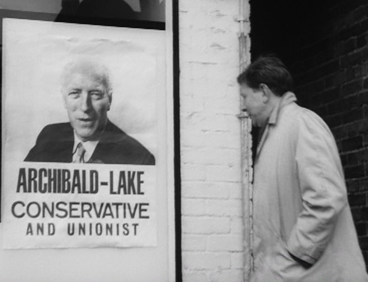 Shot of the Tory poster