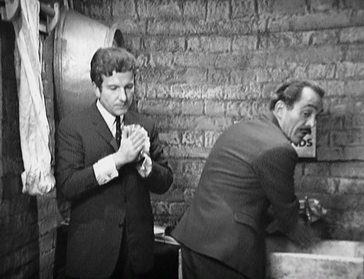 Nigel and Jack washing their hands