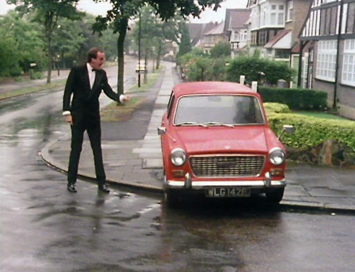 Basil Fawlty thrashing his car like a prick