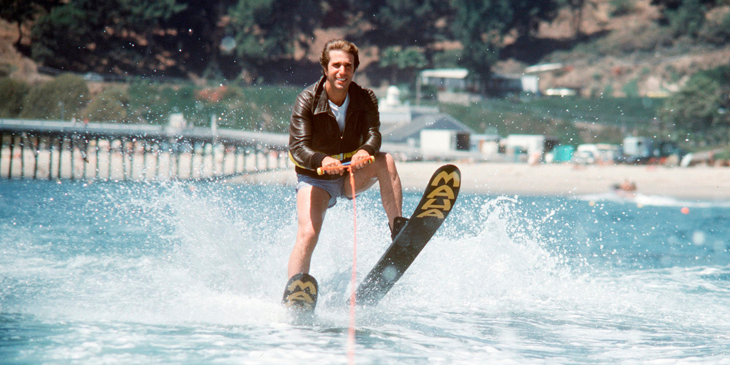 Fonzie jumping the shark like a prick