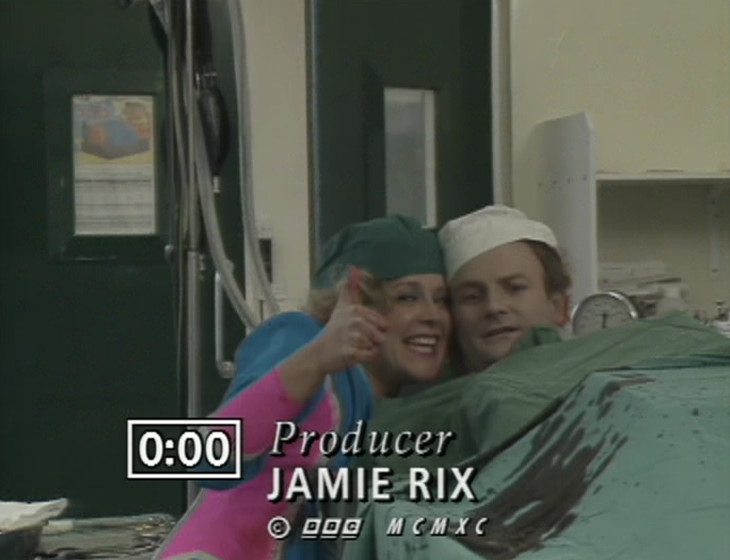 Anna Daptor in the operating theatre