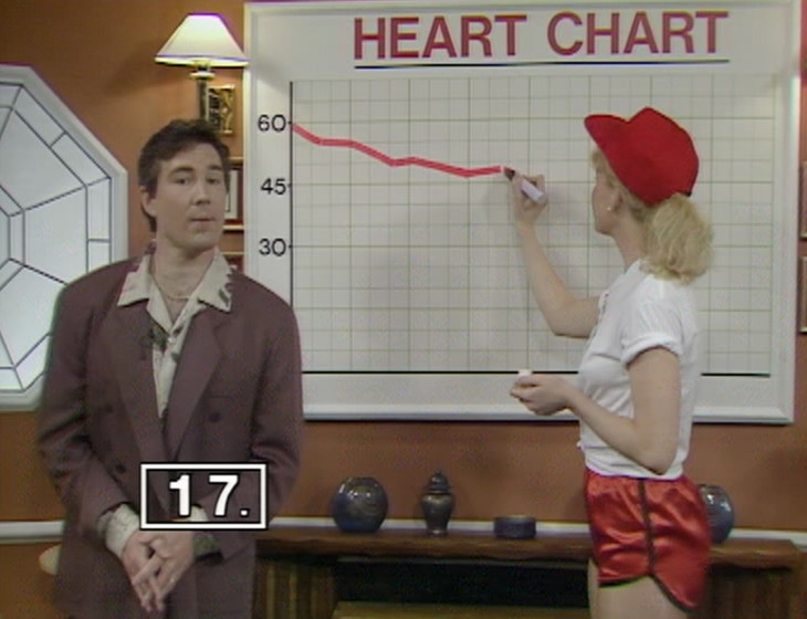 Mike Flex and Debbie with the Heart Chart