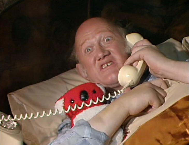 Rumbold in his bed